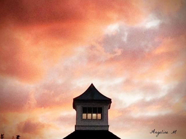 pinkclouds at sunset