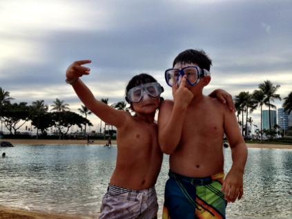Friends in Waikiki