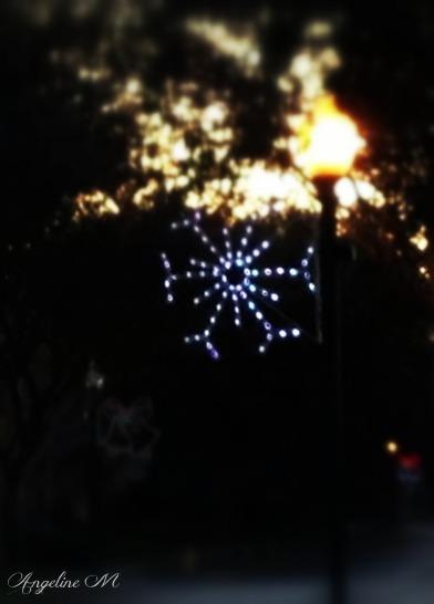 December: Christmas Snowflake Lamp Post