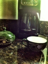 Getting the day started, morning coffe