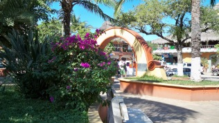 Main plaza of Sayulita