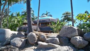 overlooking the ocean in Sayulita