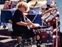 Drummer kid music at the Farmers Market