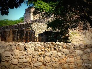 Ek Balam front walls