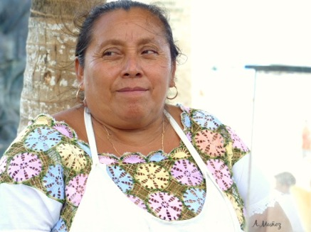 Friendly vendor in Playa del Carmen