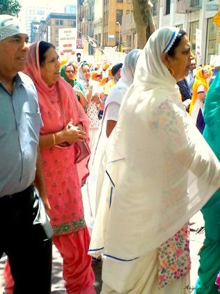 Sikh demonstrators