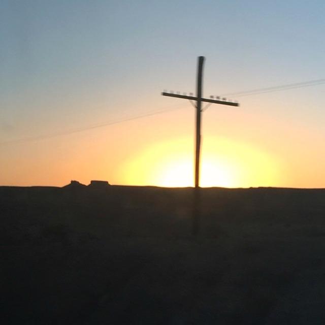 amtrakwindow sunset